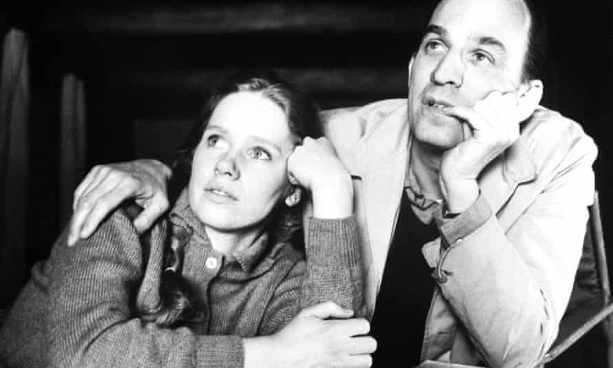 Ullman pictured with Ingmar Bergman.