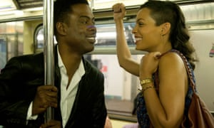 Chris Rock and Rosario Dawson in Top Five.