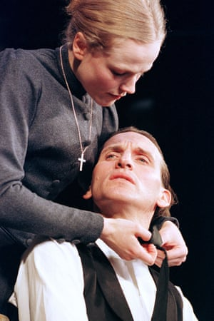 Maxine Peake with Christopher Eccleston  in Miss Julie at the Theatre Royal, Haymarket.