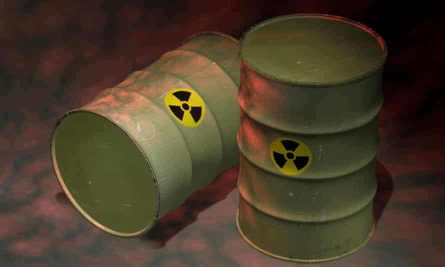 Toxic barrels illustration.