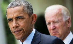 President Barack Obama, and vice-president Joe Biden