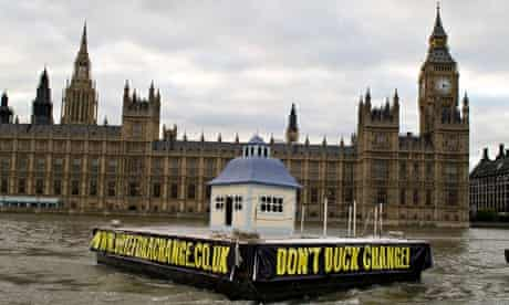 Floating duck house Parliament