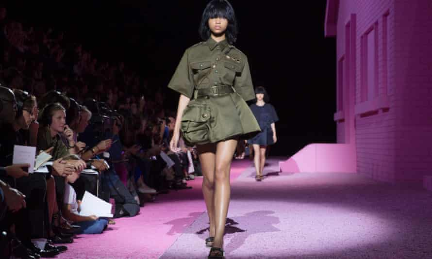 Marc Jacobs' 'cartoon version of a fashion army' at New York fashion week.