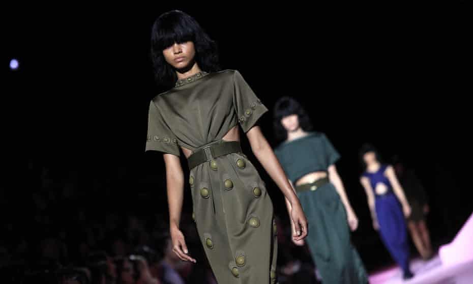 Models present creations from  the Marc Jacobs spring/summer 2015 collection