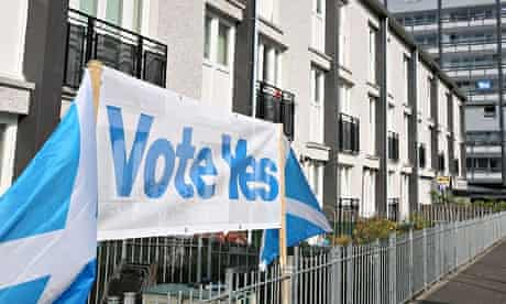 Yes campaigners in Scotland
