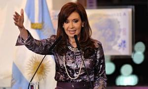 Argentinian president Cristina Fernández de Kirchner
