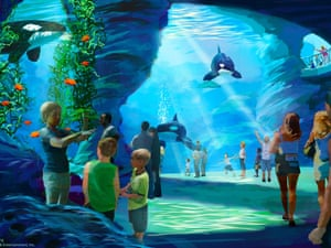 An artist's impression of the Blue World project, which is due to open at SeaWorld San Diego in 2018.