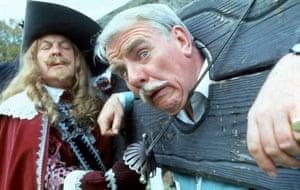 (R-L) Donald Sinden and Windsor Davies 'Never The Twain' TV Programme. 1981