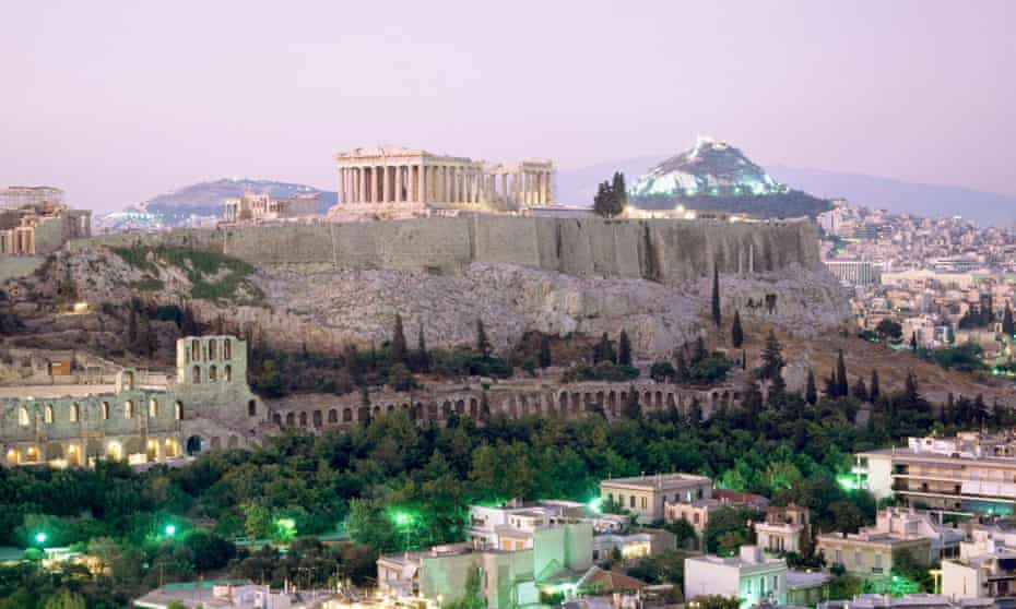 The Acropolis viewed from south-west Athens.