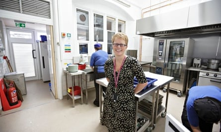 Headteacher Emma Payne in the kitchen at St Mary Redcliffe