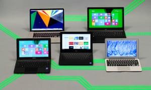 laptops, chromebooks and macbooks