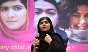 Pakistani teenager Malala Yousafzai campaigns for the right of all children to an education