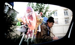 Iranian balloon seller