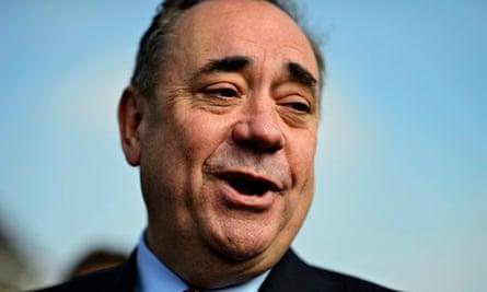 Scotland's first minister Alex Salmond in Dyce, near Aberdeen