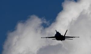 F/A-18 Hornet fighter jet