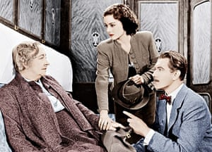 Dame May Whitty, Margaret Lockwood, Michael Redgrave in the The Lady Vanishes.