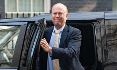 The justice secretary, Chris Grayling
