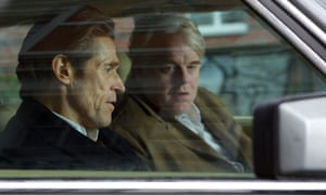 Willem Dafoe, left, and Philip Seymour Hoffman, right, in Anton Corbijn's A Most Wanted Man.