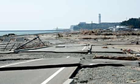 Fukushima Daini nuclear plant is seen down the coast from the damaged Fukushima Daiichi plant