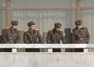 North Korean guards
