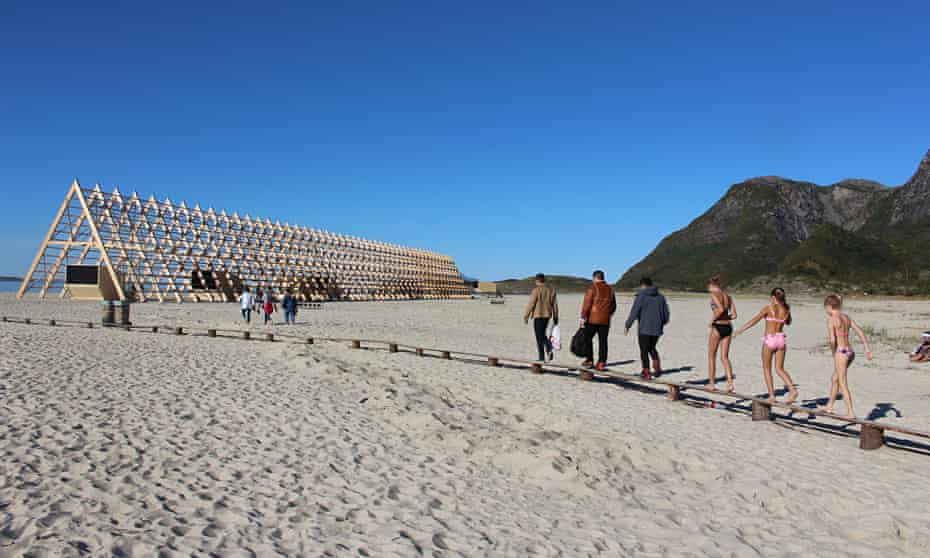 Arctic sunshine beams down on the SALT festival site and the biggest of its archite
