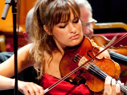 Violinist Nicola Benedetti performs with the BBC Scottish Symphony Orchestra at 2010's Proms.