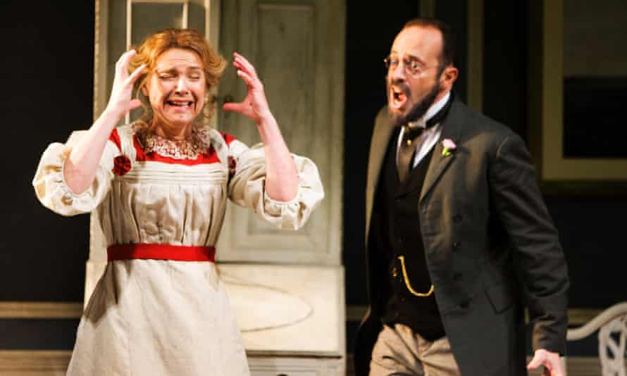 Claire Booth and Mark Milhofer in Scottish Opera's 2012 production of The Lady from the Sea by Craig Armstrong to a libretto by Zo Strachan, based on Ibsen's play.