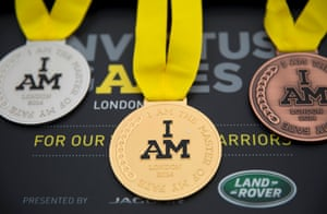 The medals waiting to be presented during the athletics competition on Day One of the Invictus Games.