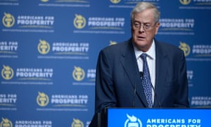 Americans for Prosperity Foundation Chairman David Koch in 2013.