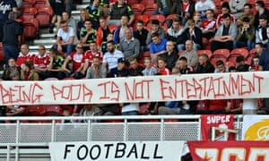 Banners attacking Benefits Street were unfurled at Middlesbrough's last home football game