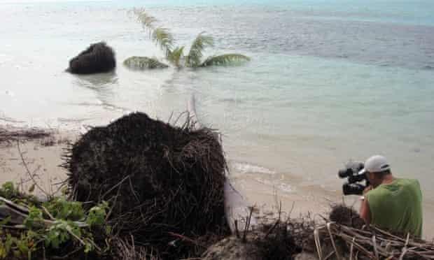 Carteret islands erosion