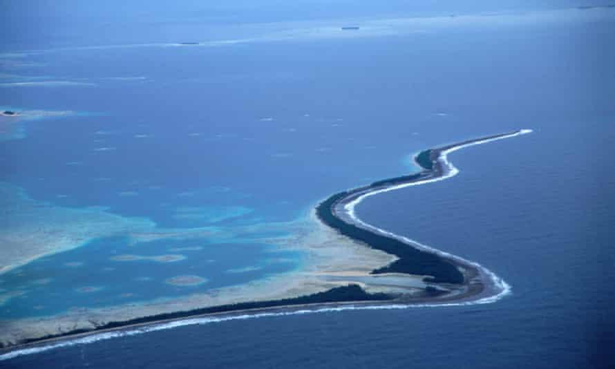Fongafale Island in Tuvalu
