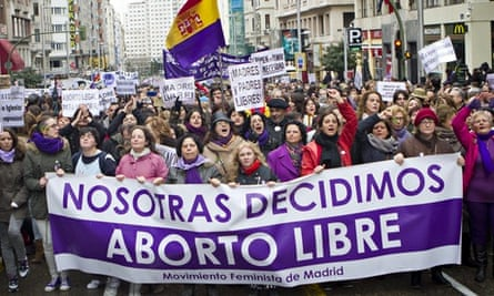 Spain abortion protest