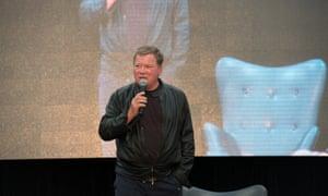 Beam me Down Under, Scotty: William Shatner at his panel.