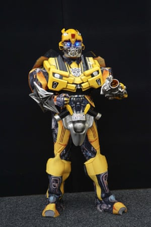 A cosplayer dressed in a Bumblebee (Transformers) costume had everyone buzzing.