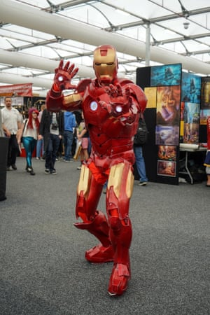 A slightly battered Iron Man deserves extra points for having that worn-in look.