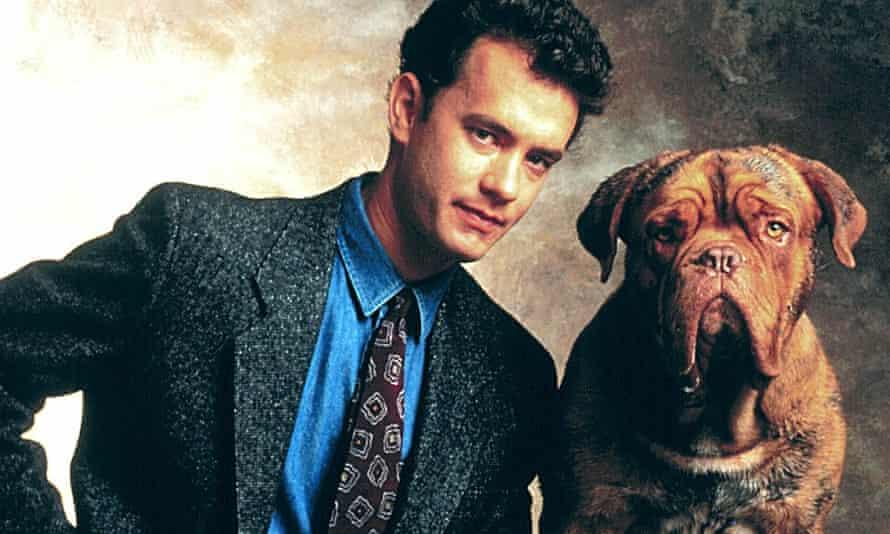 Tom Hanks and pooch in Turner and Hooch