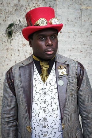 Michael Anthony Young is a regular at steampunk events