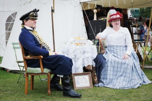 Wherever there are steampunks, tea and cake is not far away