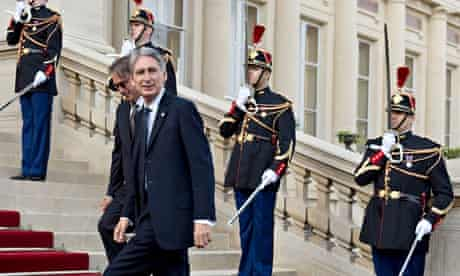 Philip Hammond arrives for an international conference on Islamic State