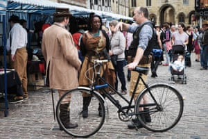 A market runs throughout the weekend and is a meeting point for steampunks and local residents