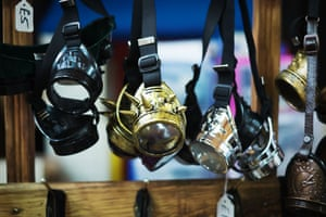 Weekend at the Asylum includes a large market where one can buy essential items such as brass  goggles