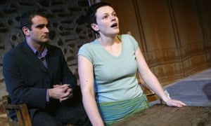 John Marquez and Maxine Peake in Mother Teresa Is Dead at the Royal Court Upstairs in 2002.