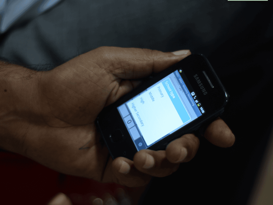 Government officials in Punjab using SMS technology.
