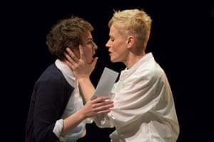 Katie West as Ophelia and Maxine Peake as Hamlet