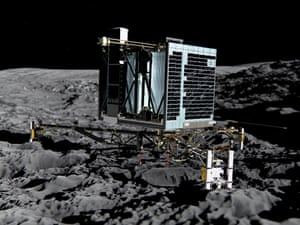 Artist's impression of the Philae lander on the comet's surface