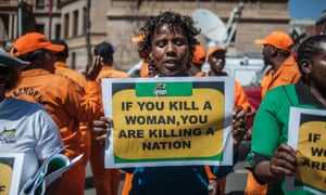 A protest outside the North Gauteng High court where Pistorius heard the verdict in his trial