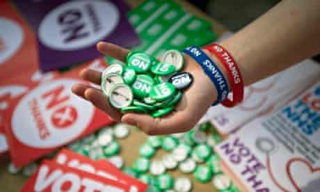 Scottish independence referendum no badges