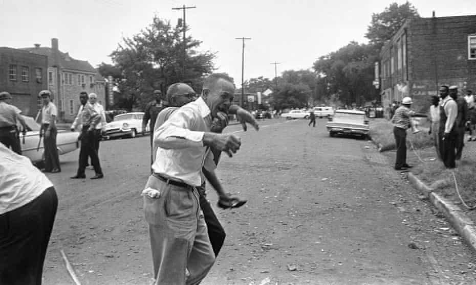 The scene in Birmingham, Alabama, after the 16th Street Baptist Church bombing, 15 September, 1963