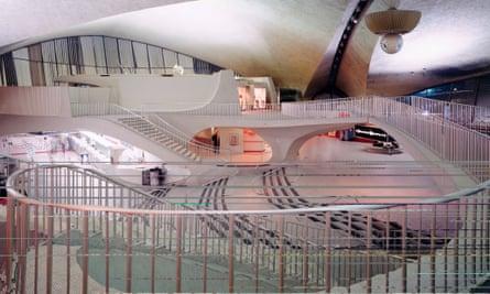 Architect Eero Saarinen's TWA terminal, JFK airport, New York, 1962